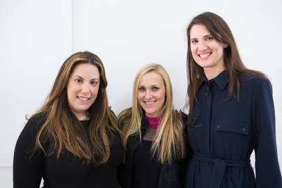 Mary Katrantzou, Courtney Blackman and Davina Catt