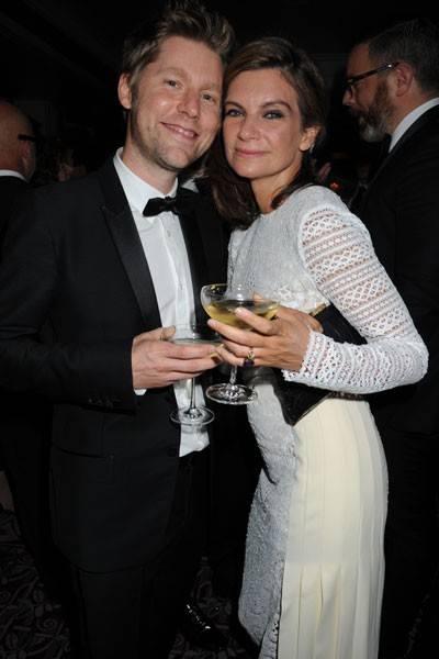 Christopher Bailey and Natalie Massenet