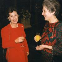 The Countess of Leicester and Mrs Christophe de Planta