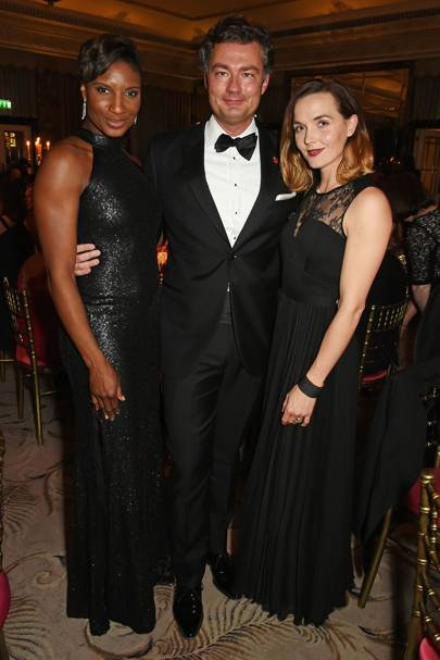Denise Lewis, Laurent Feniou and Victoria Pendleton