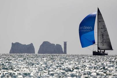 Sailing by the Needles, Aberdeen Asset Management Cowes Week