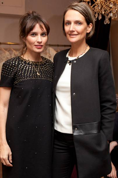 Sheherazade Goldsmith and Saffron Aldridge