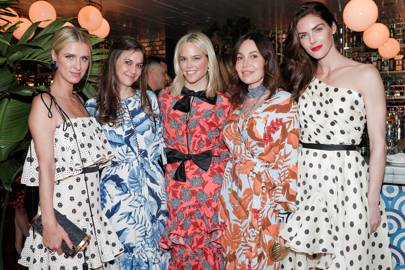 Nicky Rothschild, Bara Tisch, Indre Rockefeller, Fabiola Beracasa-Beckman and Hilary Rhoda