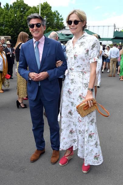 Lord Sebastian Coe and Carole Annett