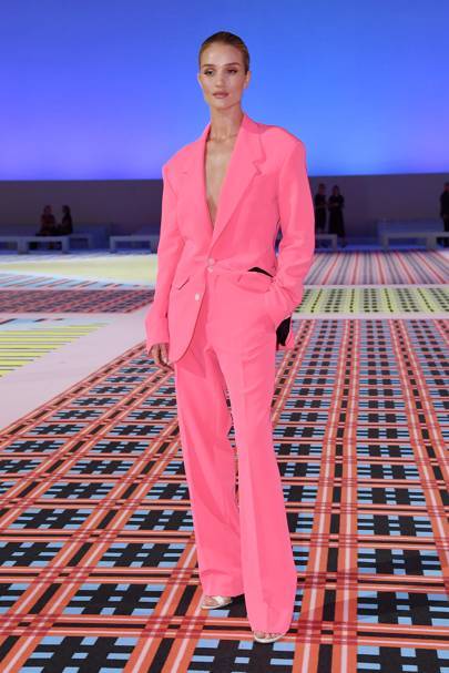 Rosie Huntington-Whitely at the Versace show