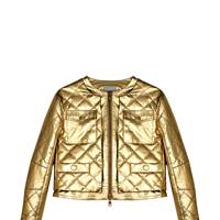 Leather jacket, £735, By Moschino