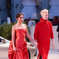 Dakota Johnson and Tilda Swinton at the Suspiria premiere