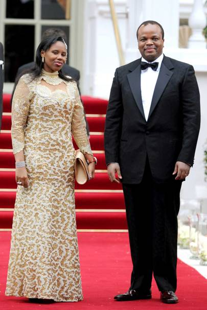 King Mswati III and wife, 2011