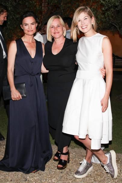 Rosetta Getty, Patricia Arquette and Rosamund Pike