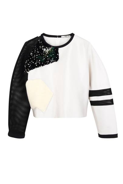 Silk & shearling top, £1,240, by Fendi