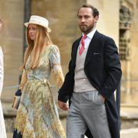 Alizee Thevenet and James Middleton at Lady Gabriella Windsor and Thomas Kingston's wedding, May 2019