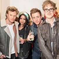 Dougie Poynter, Lara Carew-Jones, Danny Jones and Tom Fletcher