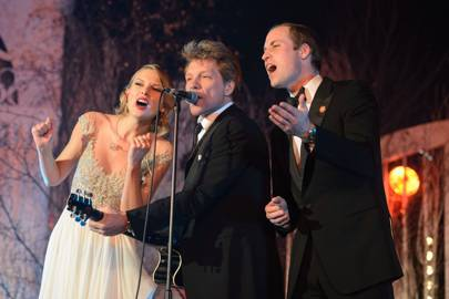 Taylor Swift, Jon Bon Jovi and The Duke of Cambridge