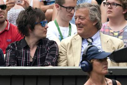 Elliott Spencer and Stephen Fry