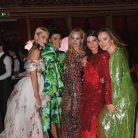 Poppy Delevingne, Giovanna Battaglia Engelbert, Lauren Santo Domingo, Dame Natalie Massenet and Alice Temperley