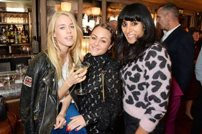 Mary Charteris, Jaime Winstone and Serena Rees