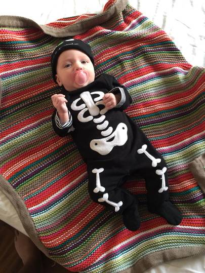 Matilda MacInnes as a skeleton