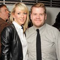 Julia Carey and James Corden