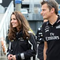 The Duchess of Cambridge and Dean Baker
