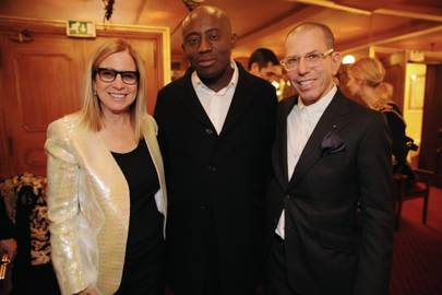 Ronnie Cooke Newhouse, Edward Enninful and Jonathan Newhouse
