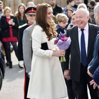 The Duchess of Cambridge and Lord Fellowes