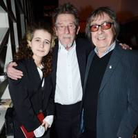 Matilda Wyman, John Hurt and Bill Wyman
