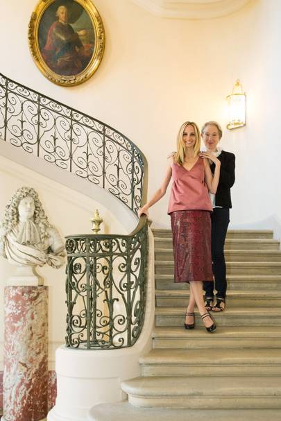 Lauren Santo Domingo and Justine Picardie