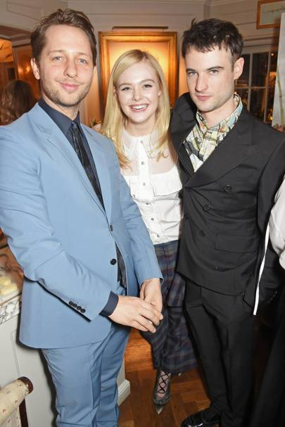 Derek Blasberg, Elle Fanning and Tom Sturridge