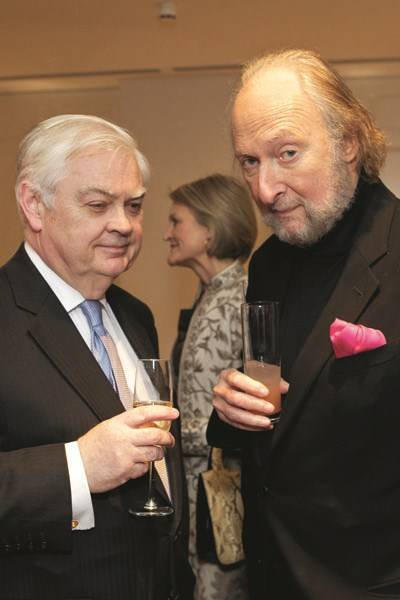Lord Lamont and Ed Victor
