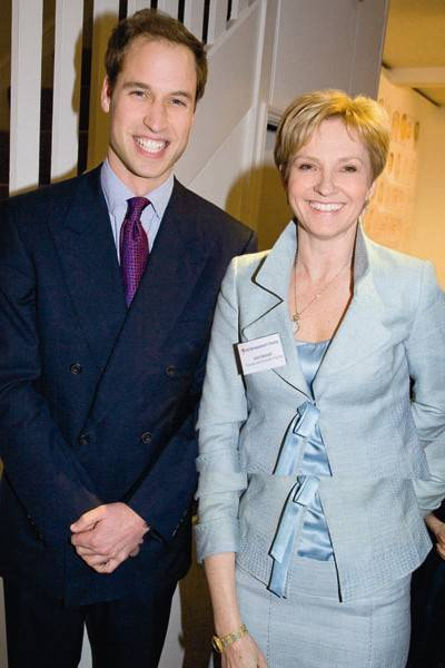 Prince William and the Hon Mrs Michael Samuel