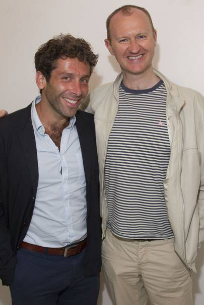 Elliot Levey and Mark Gatiss