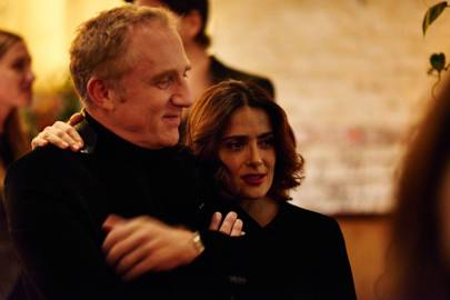 Francois Henri Pinault and Salma Hayek-Pinault