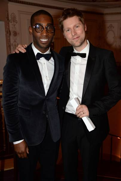Tinie Tempah and Christopher Bailey