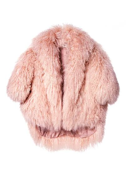Feather shrug, £2,695, by Temperley