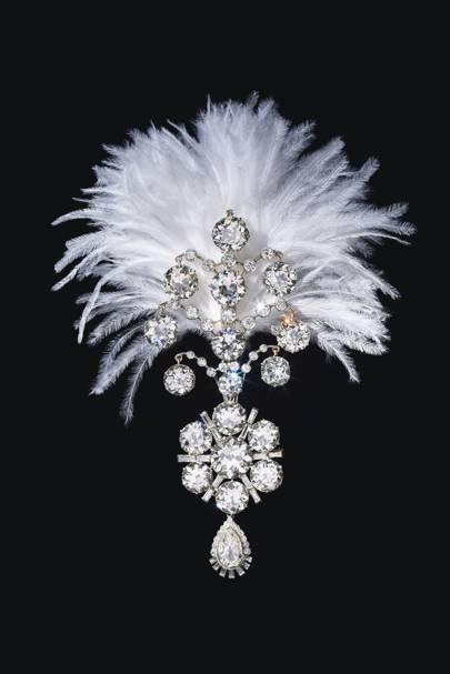 Diamond turban ornament, 1907.