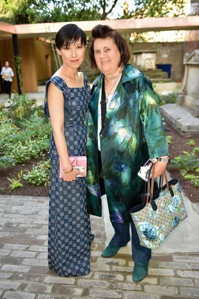 Sandra Choi and Suzy Menkes