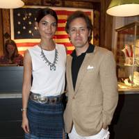 Lily Aldridge and David Lauren