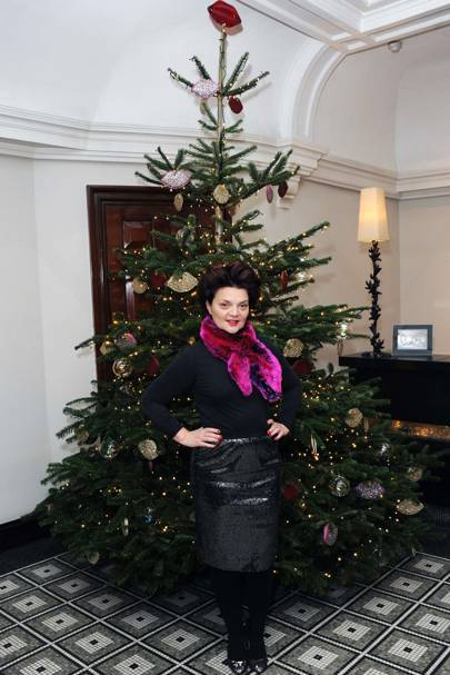 Lulu Guinness's Christmas tree at Brown's Hotel