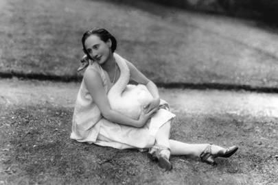 Prima ballerina Anna Pavlova with Jack, by Lafayette 1927