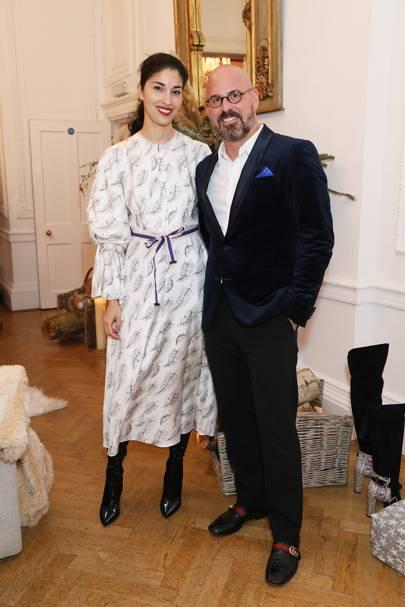Caroline Issa and Andres Sosa