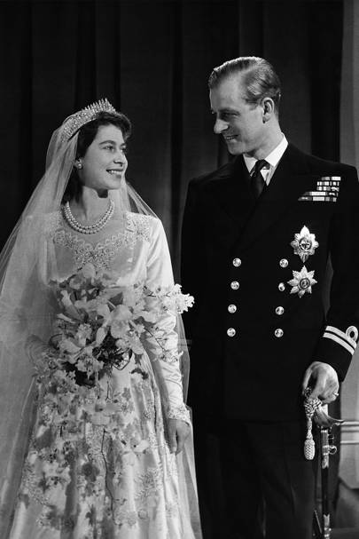 Queen Elizabeth II and the Duke of Edinburgh's wedding portrait, 1947