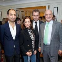 Darius Sanai, Harriet Quick, Albert Read and Nicholas Coleridge
