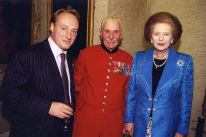 Andrew Roberts, Archibald Harrington and Baroness Thatcher
