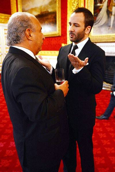 Sir Philip Green and Tom Ford