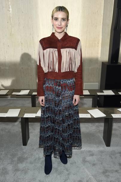 Emma Roberts attend Longchamp