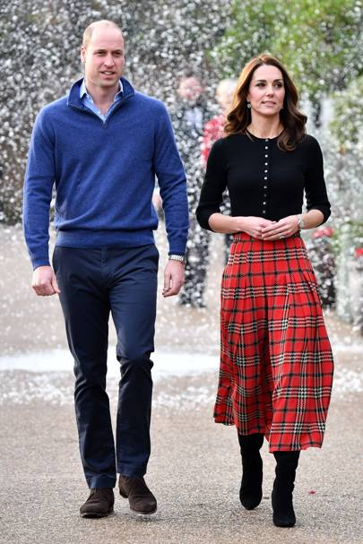 4e3d919cd The Duchess of Cambridge goes festive for a Christmas party at Kensington  Palace