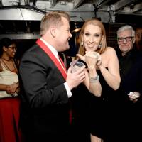 James Corden and Céline Dion