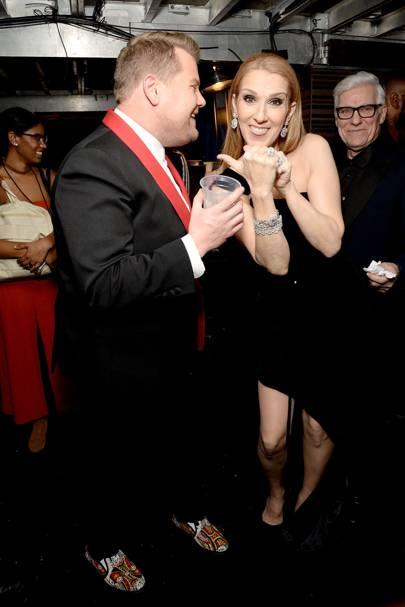 James Corden and Céline Dion