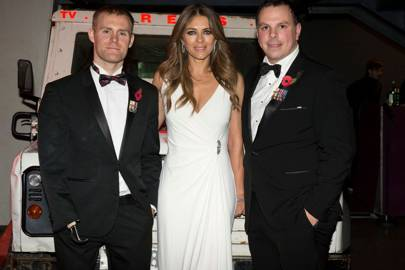 Marc Ormrod, Liz Hurley and Paul Findlay