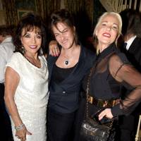 Joan Collins, Tracey Emin and Amanda Eliasch